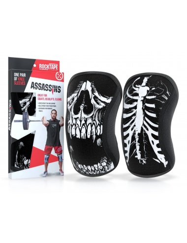 Rocktape Assassins Knee Sleeves and Protectors SKull