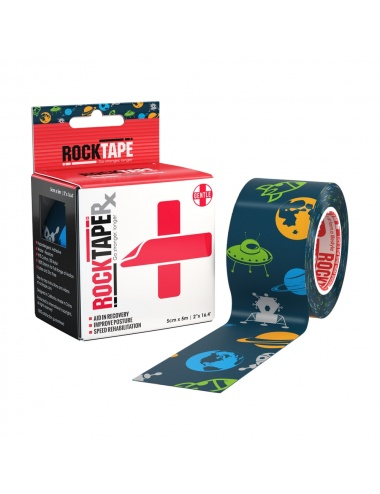 RockTape Rx Pediatric Single Roll Space Pattern 1000pix