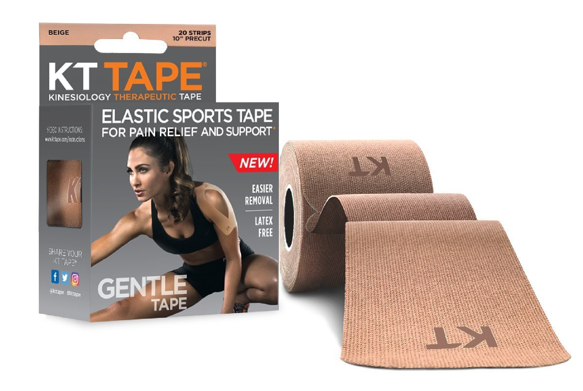 KT Tape Gentle Precut Strips - Beige MAIN