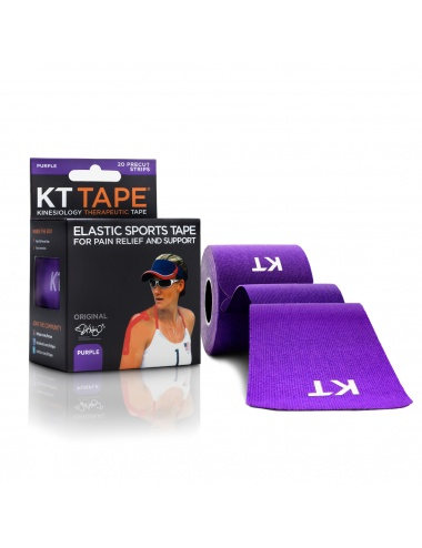 KT Tape Original Cotton 20 Precut Strips - Purple