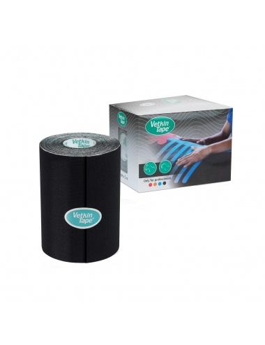 "VetkinTape Kinesiology Tape 4"" Roll and Box Black"