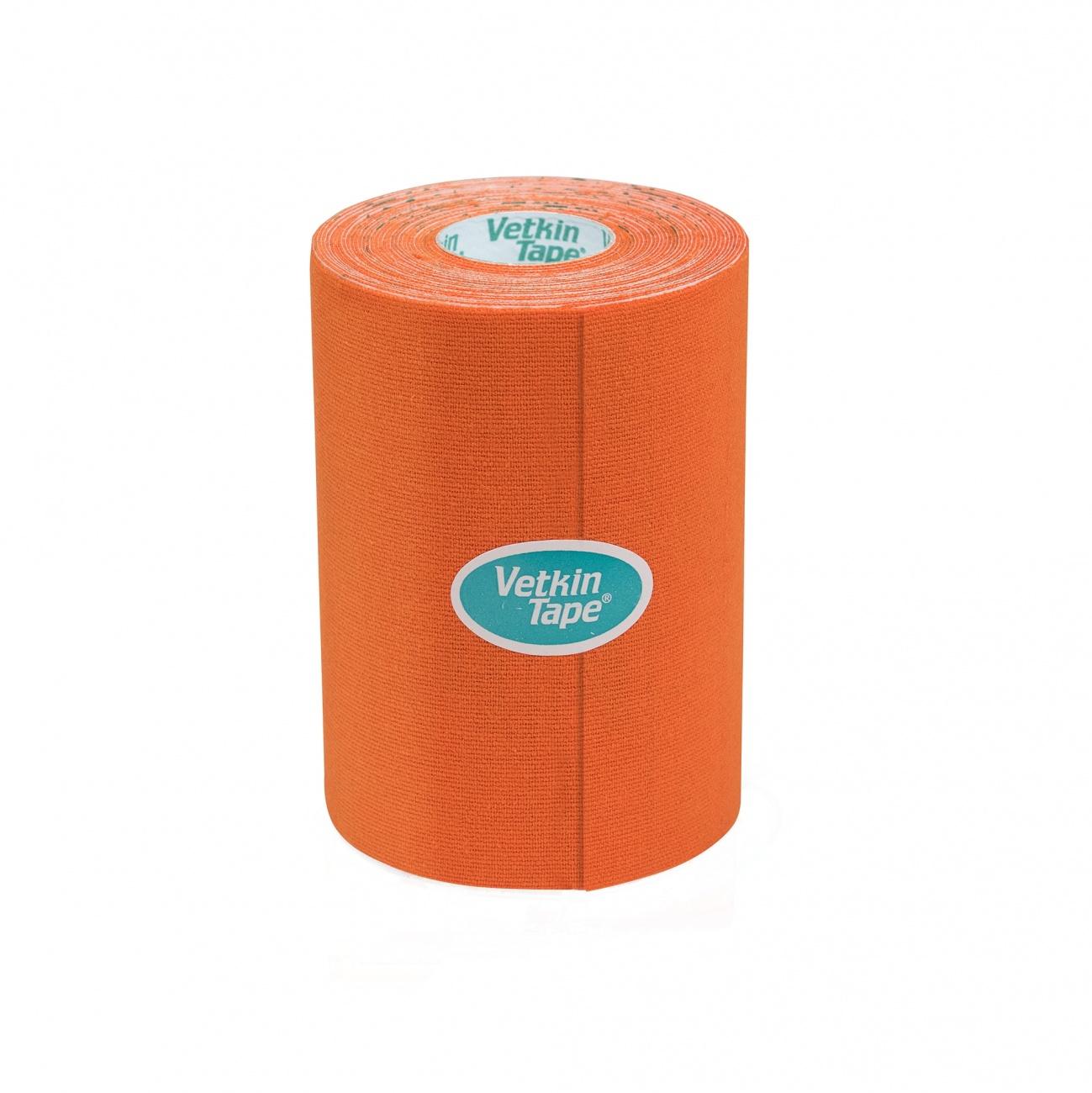"""VetkinTape Kinesiology Tape 4"""" Roll Orange"""