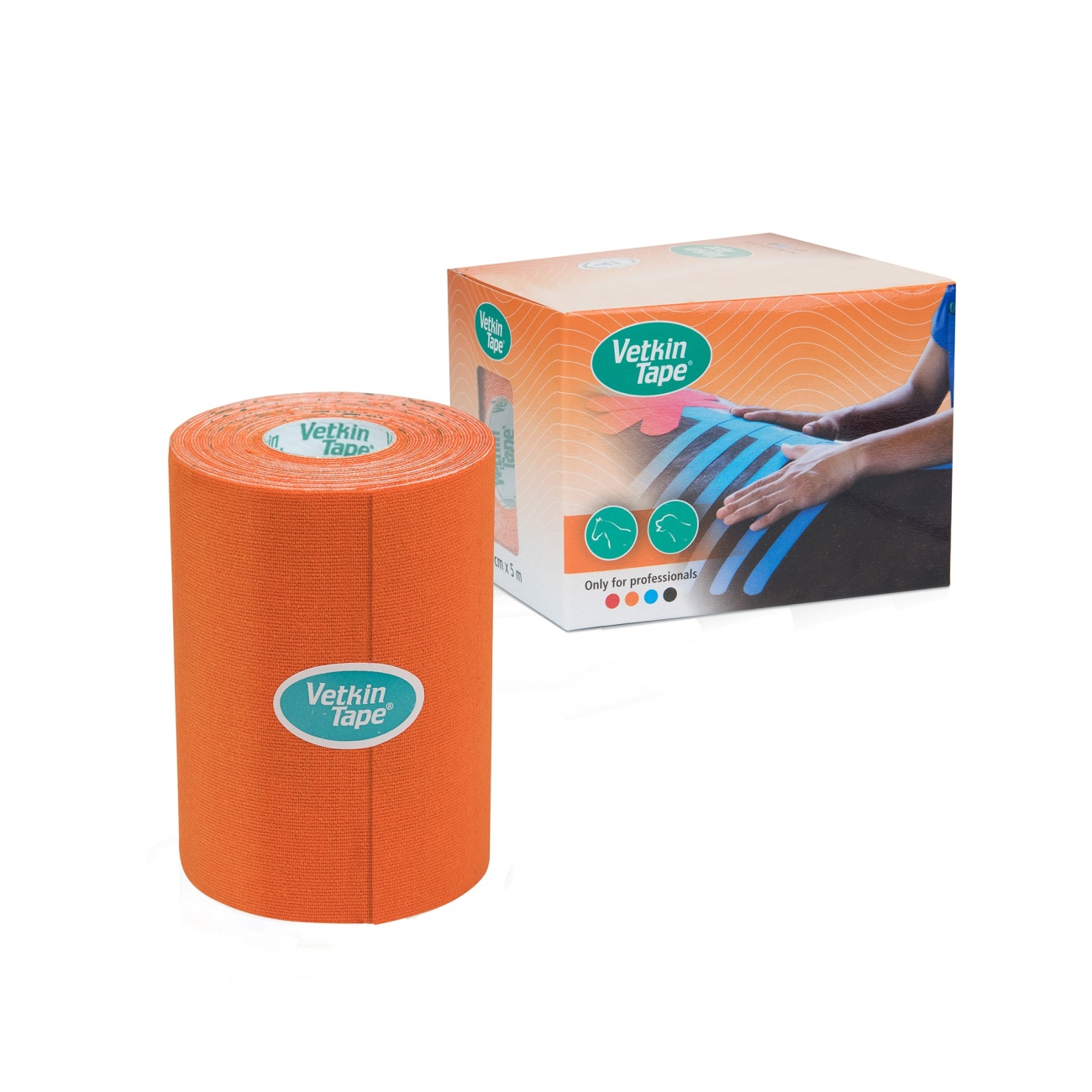 "VetkinTape Kinesiology Tape 4"" Roll Orange"