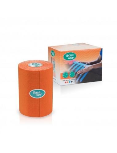 "VetkinTape Kinesiology Tape 4"" Roll and Box Orange TN"