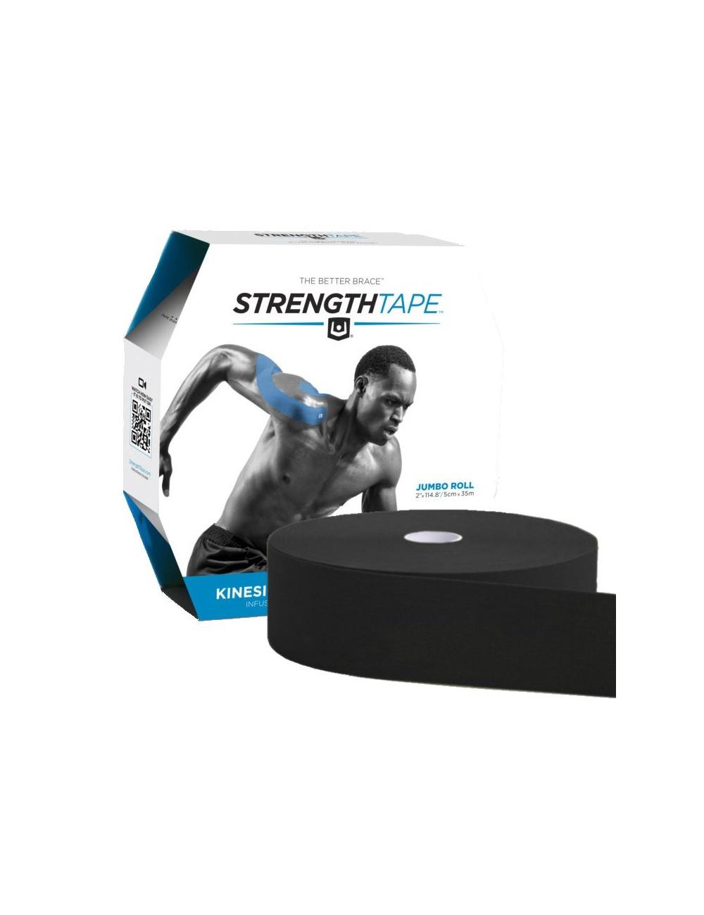 Strength Tape by Life Strength - Uncut Bulk Rolls - Black