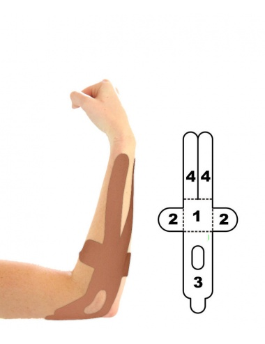 Kindmax Kinesiology Tape Elbow Support - Beige