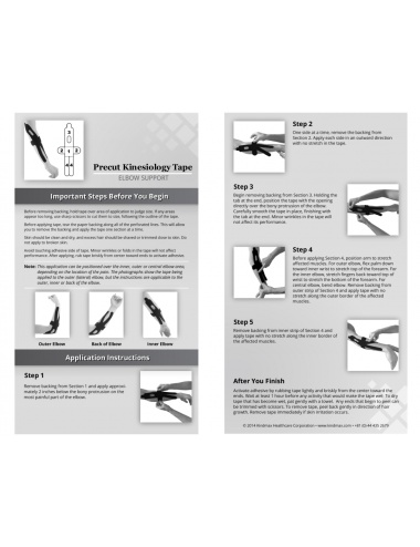 Kindmax Kinesiology Tape Elbow Support - Package Inside