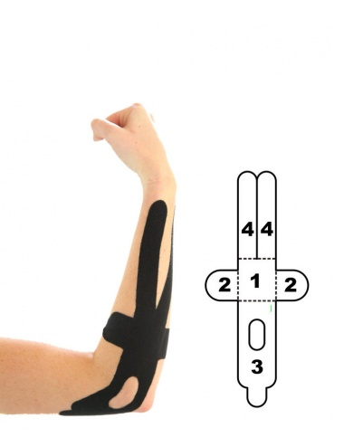 Kindmax Kinesiology Tape Elbow Support - Black