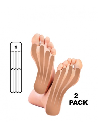 Kindmax Kinesiology Tape Foot Support - Beige