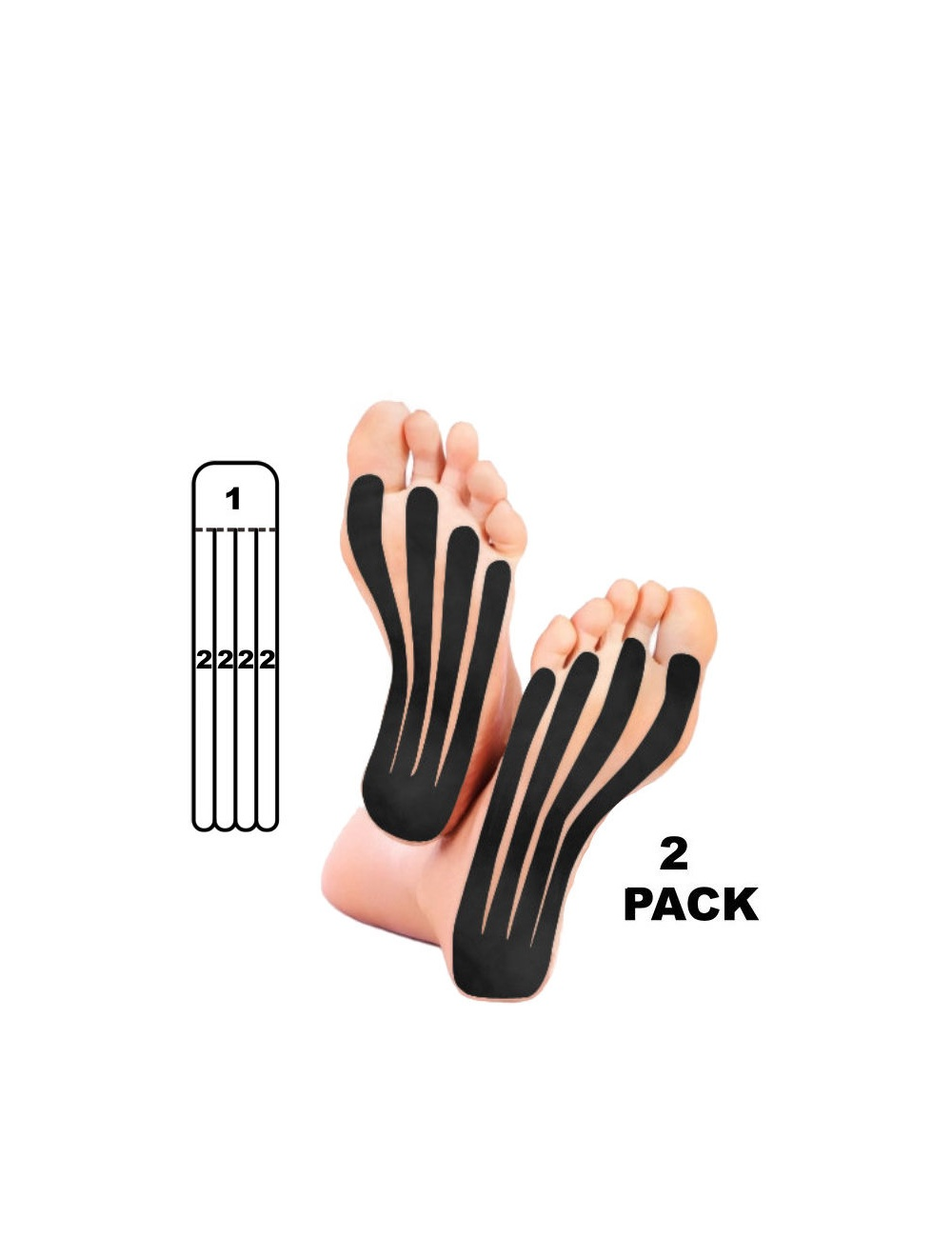 Kindmax Kinesiology Tape Precut Foot Support - Black