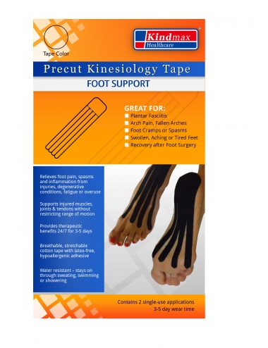 Kindmax Kinesiology Tape Precut Foot Support - Package Front