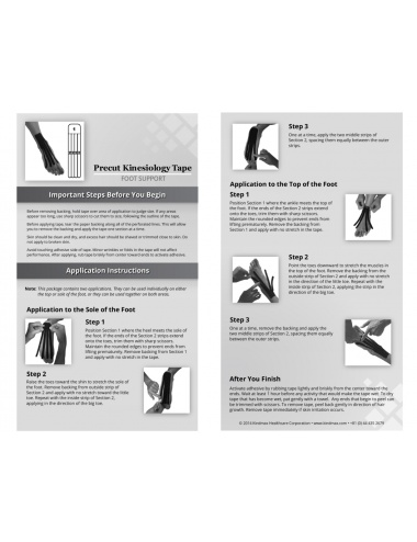 Kindmax Kinesiology Tape Precut Foot Support - Package Inside