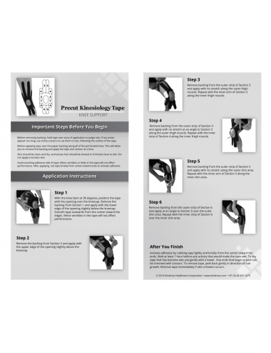 Kindmax Kinesiology Tape Knee Support - Package Inside