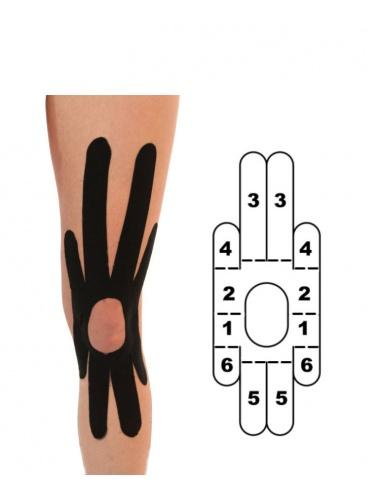 Kindmax Kinesiology Tape Knee Support - Black