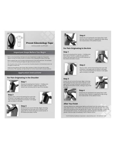 Kindmax Precut Shoulder Tape - Package Inside