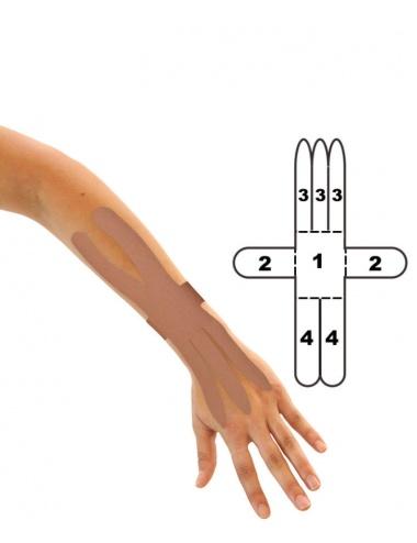 Kindmax Kinesiology Tape Wrist Support - Beige