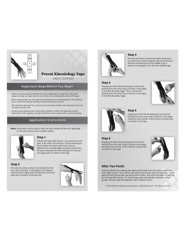 Kindmax Kinesiology Tape Wrist Support Package Inside