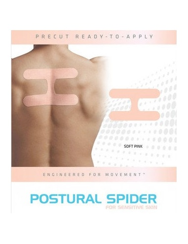 SpiderTech Gentle Precut Upper Back and Postural Tape