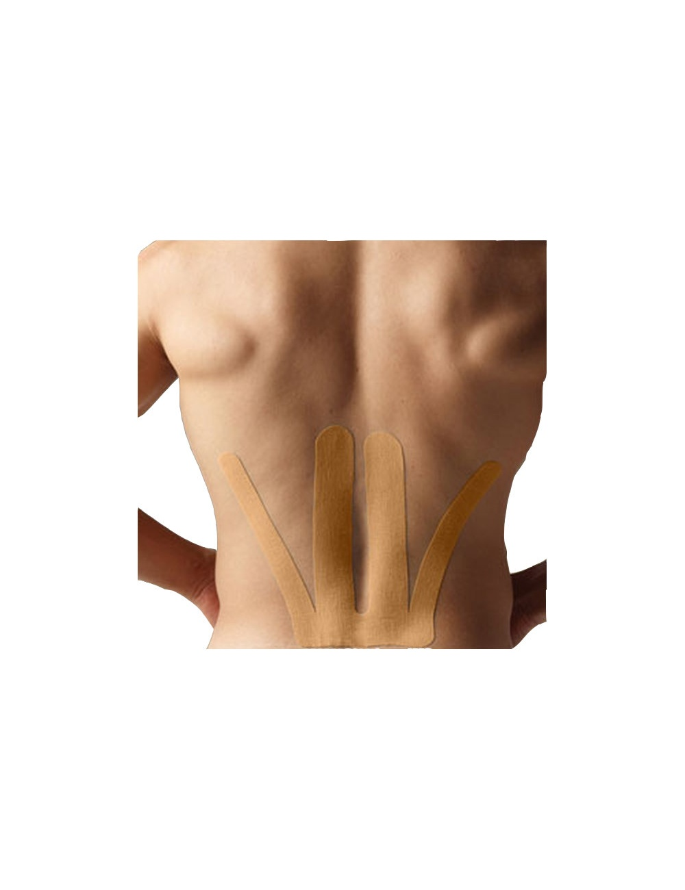 SpiderTech Precut Lower Back Tape Beige