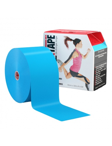 "RockTape Kinesiology Tape 4"" Bulk Roll - Blue"
