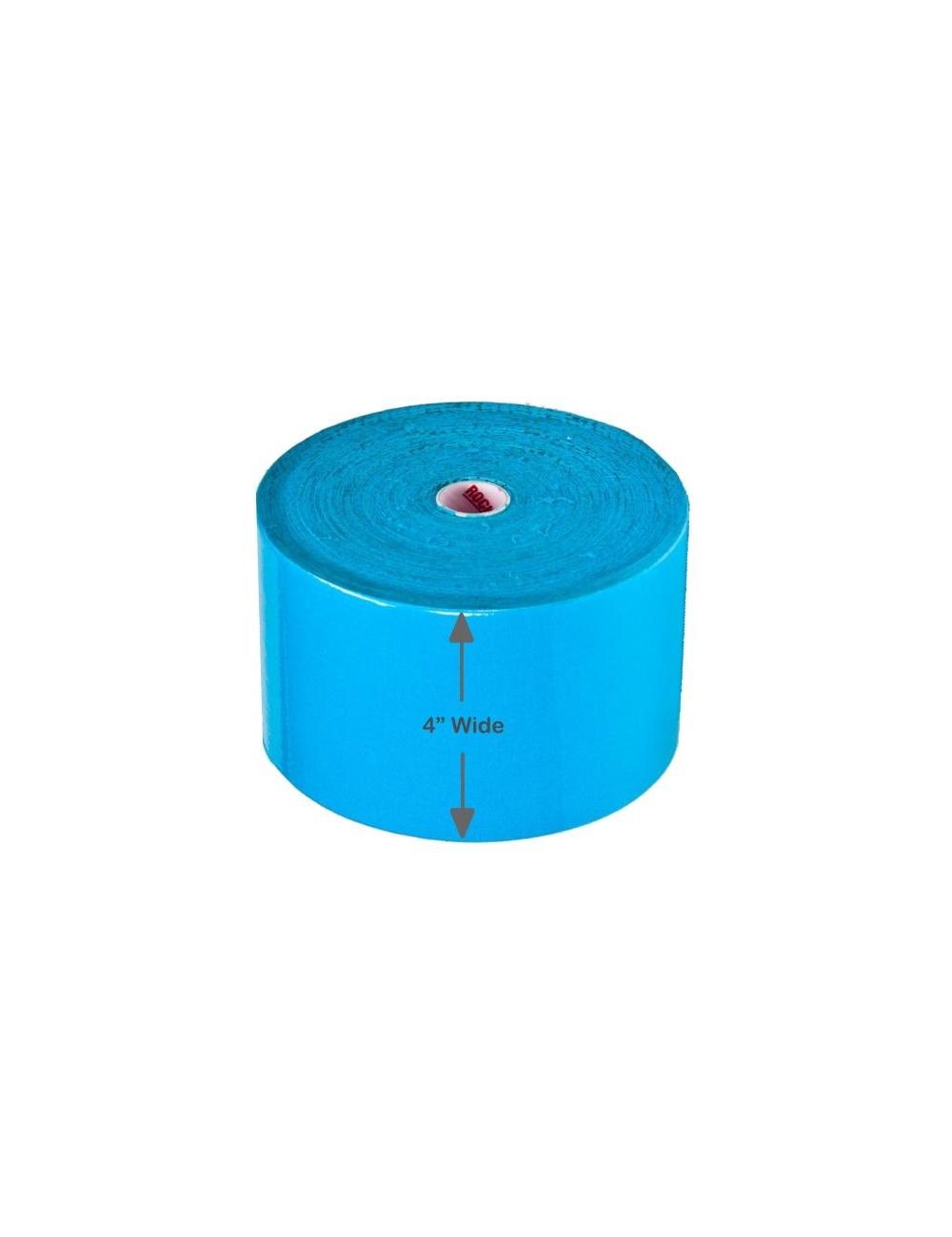 "RockTape Kinesiology Tape 4"" Bulk Roll - Blue"