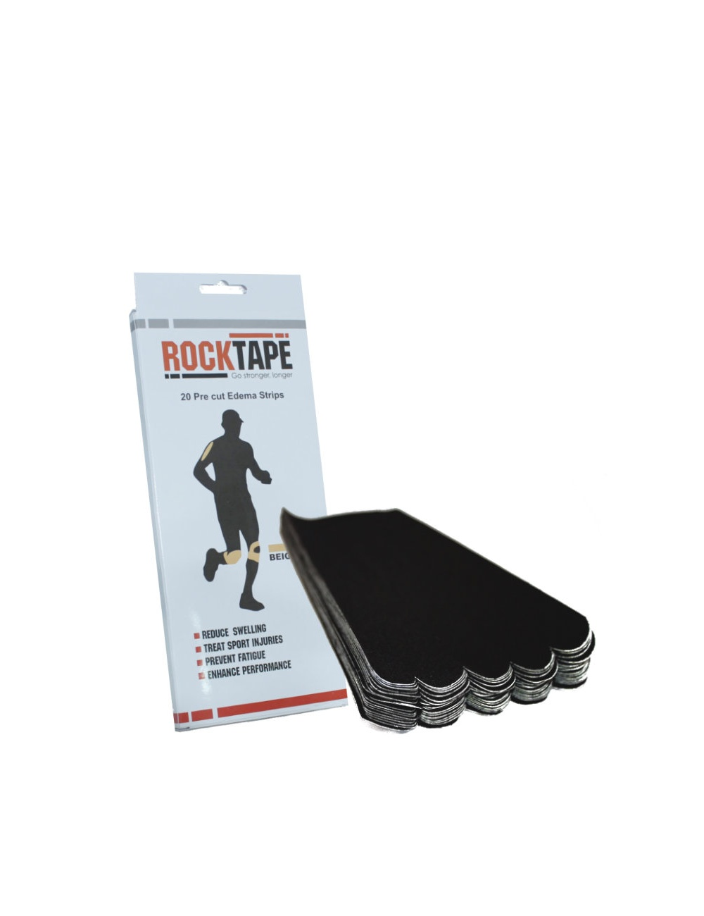 RockTape Edema Strips - Black