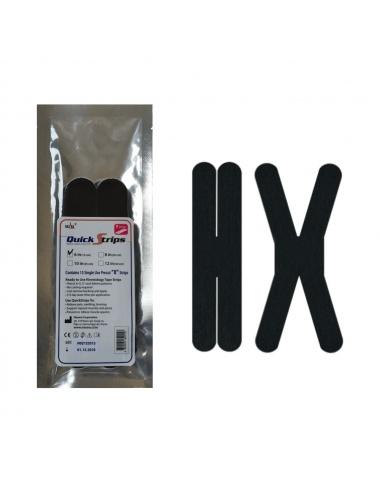 "Nasara QuickStrips 6"" Precut X Strips 15-Pack - Black"