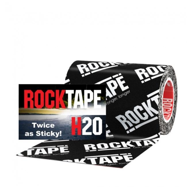 """RockTape H2O Black Logo 4"""" Wide Kinesiology Tape"""