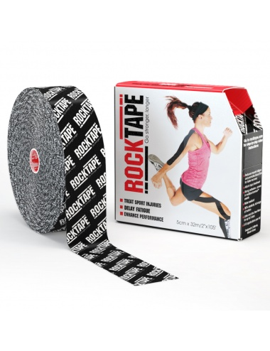 "RockTape 2"" x 105' Bulk Roll - Black Logo"