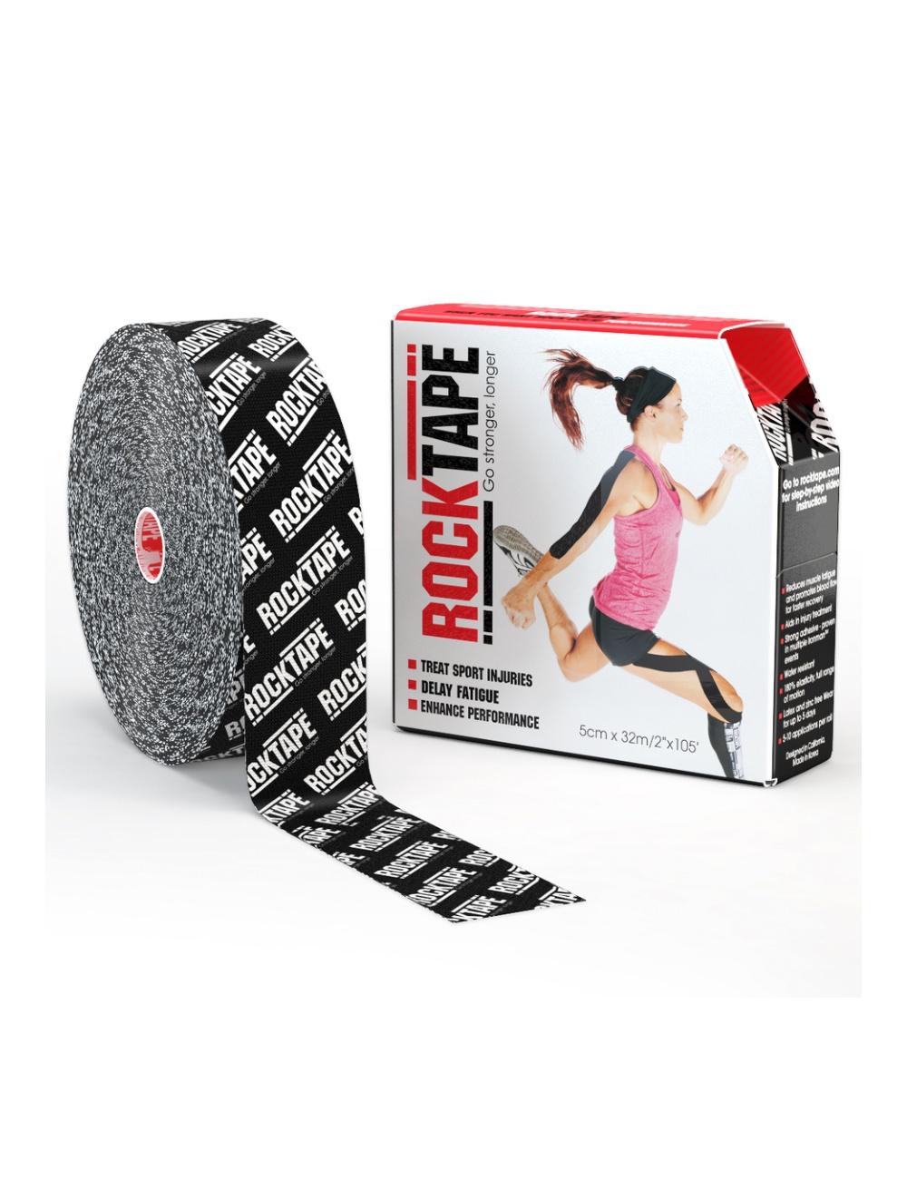 "RockTape 2"" x 105' Bulk Roll - Black Logo"