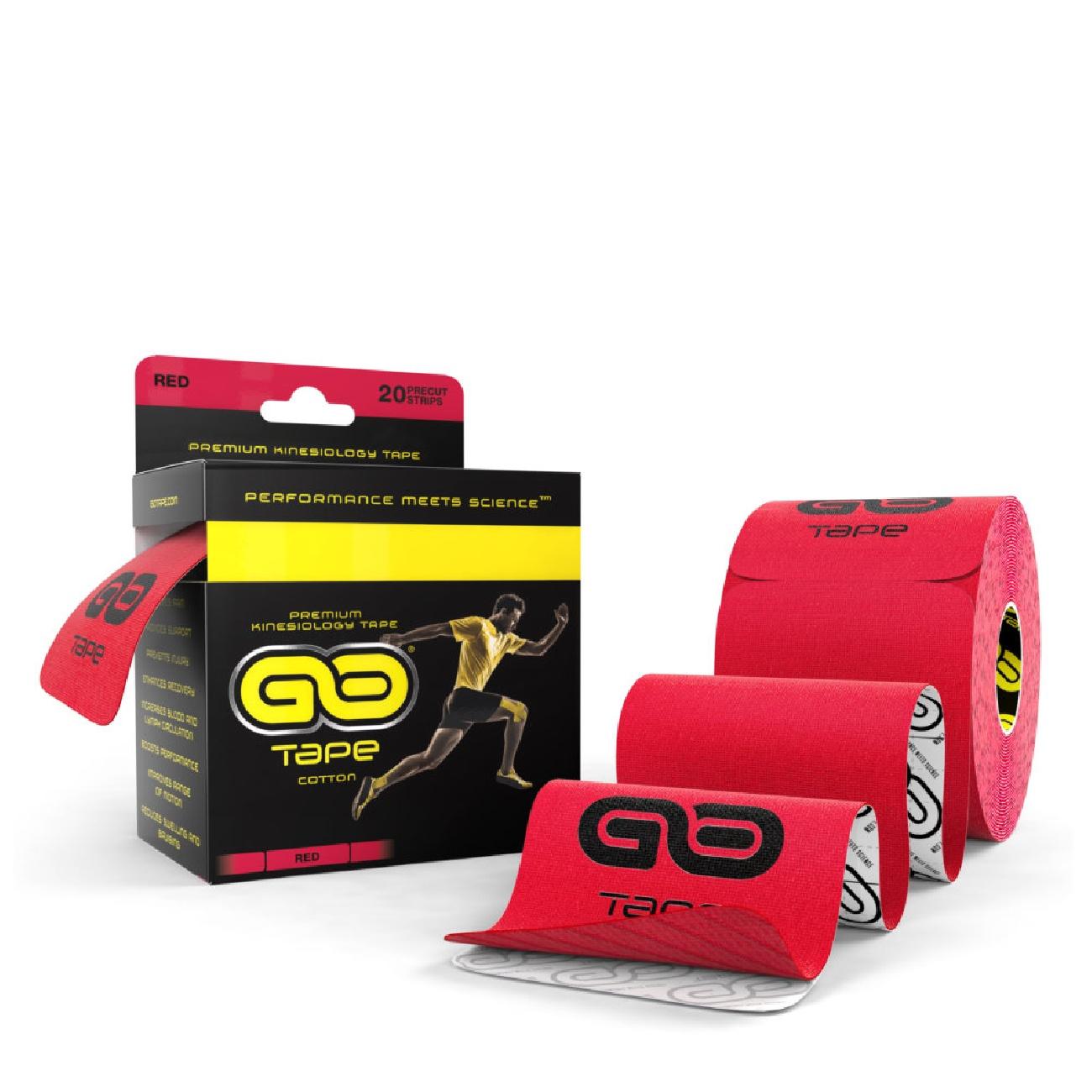 GO Tape - 20 Precut Strips - Red