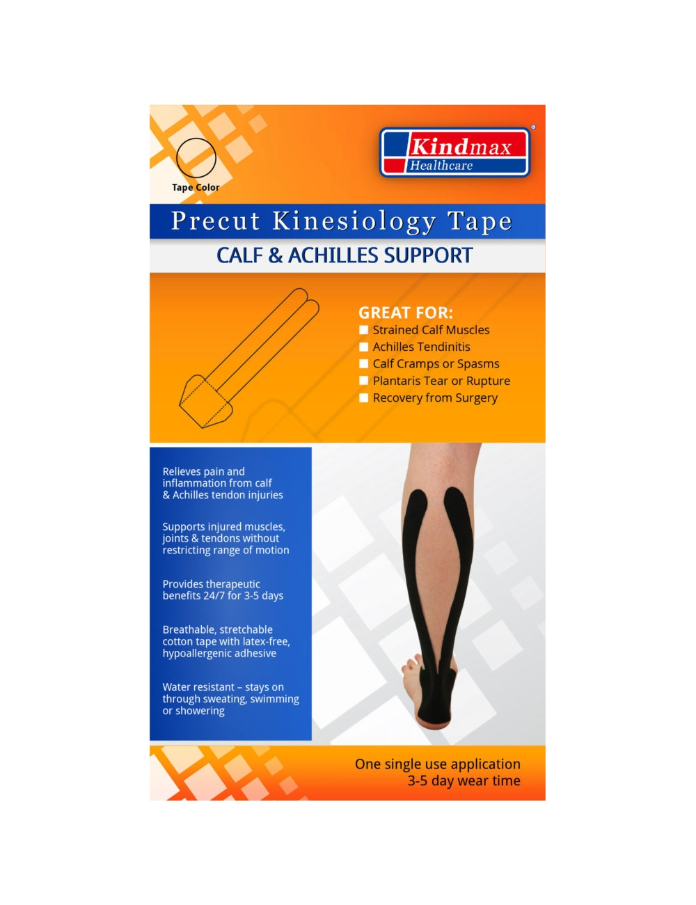 Kindmax Precut Calf & Achilles Support