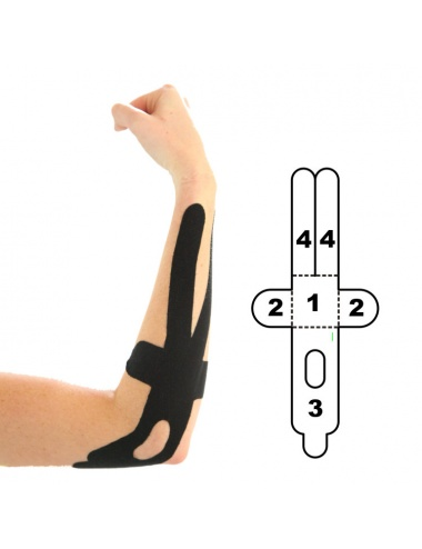 Kindmax Precut Elbow Kinesiology Tape - Black