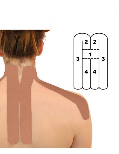 Kindmax Precut Neck Kinesiology Tape - Beige