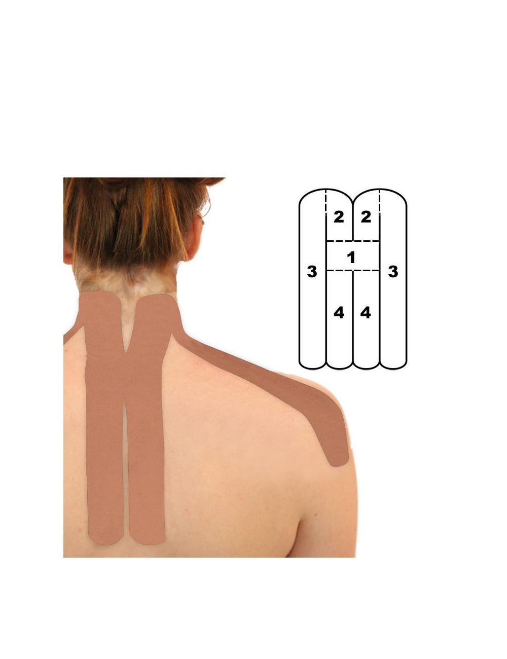Kindmax Precut Neck Kinesiology Tape - Black
