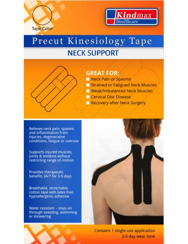 Kindmax Precut Neck Kinesiology Tape - Package