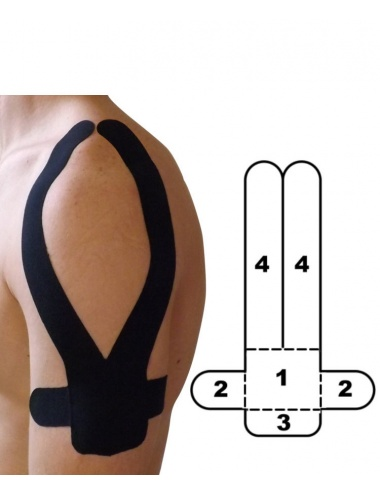 Kindmax Precut Shoulder Kinesiology Tape - Black