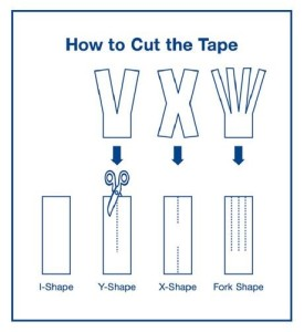 how to cut kinesio tape