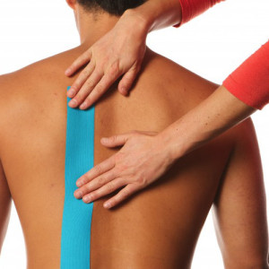 Kinesiology Tape Precut I Strips Back Application