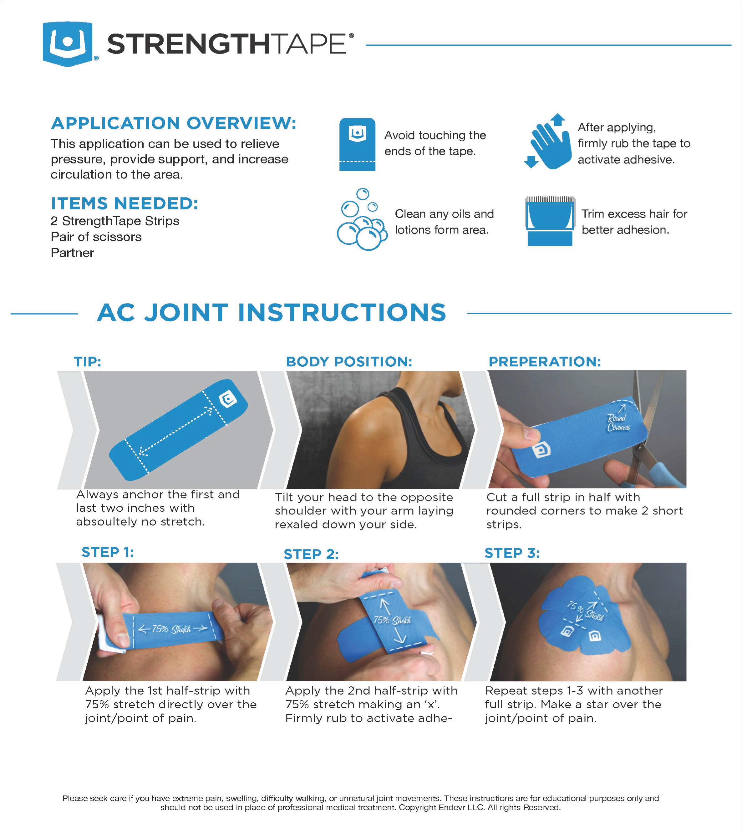StrengthTape AC Joint Taping Instructions
