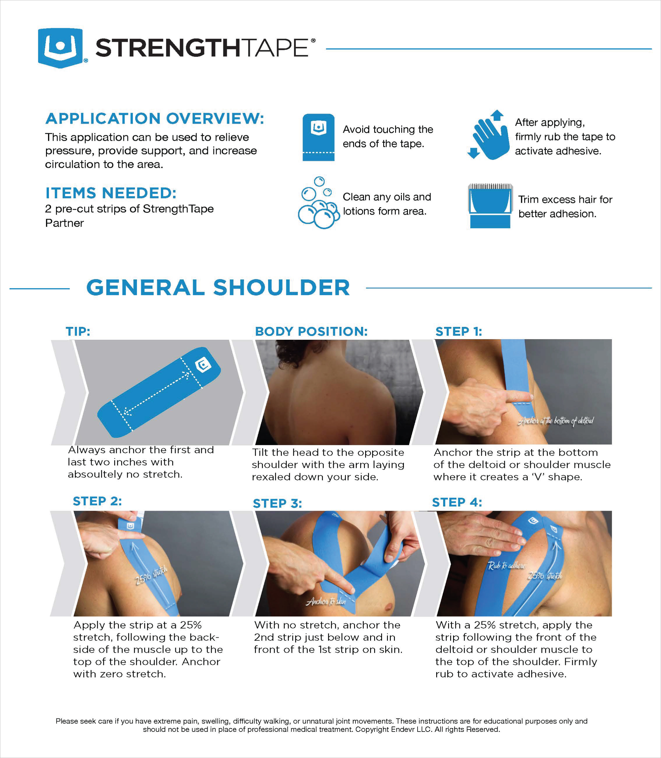 StrengthTape General Shoulder Taping Instructions