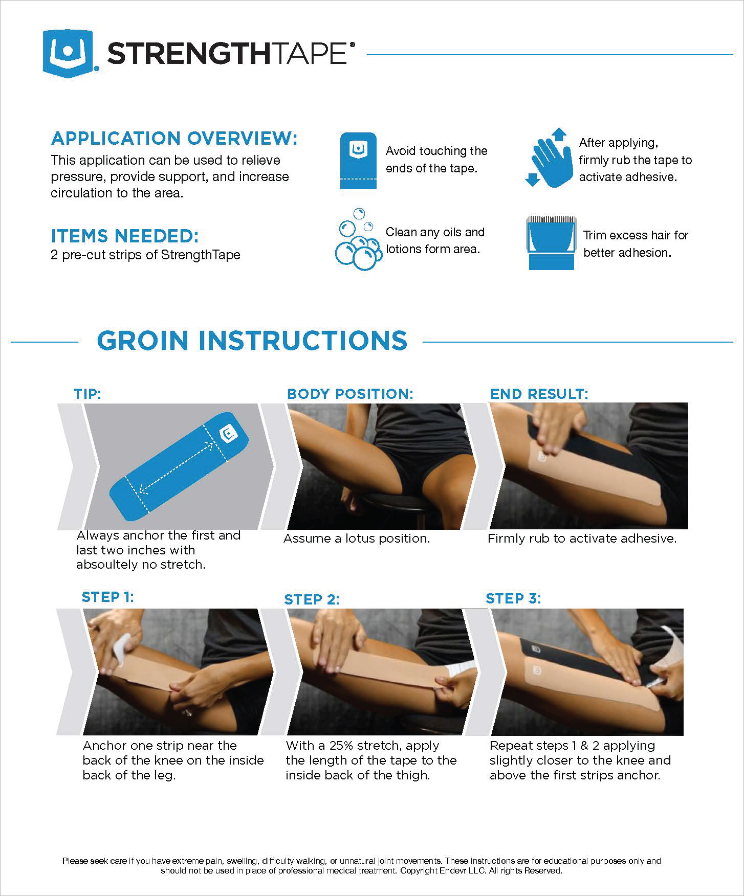 StrengthTape Groin Taping Instructions