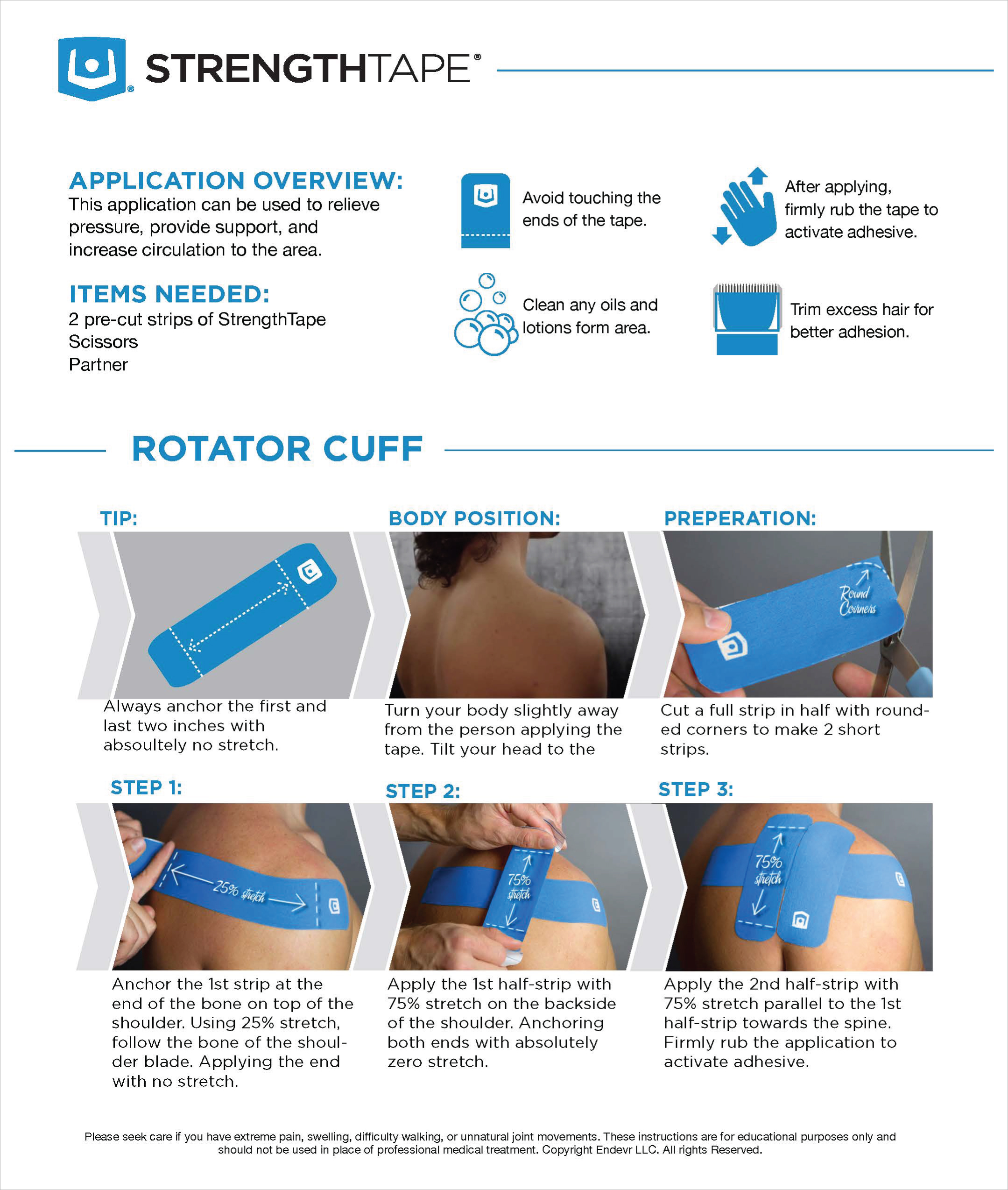 StrengthTape Rotator Cuff Taping Instructions