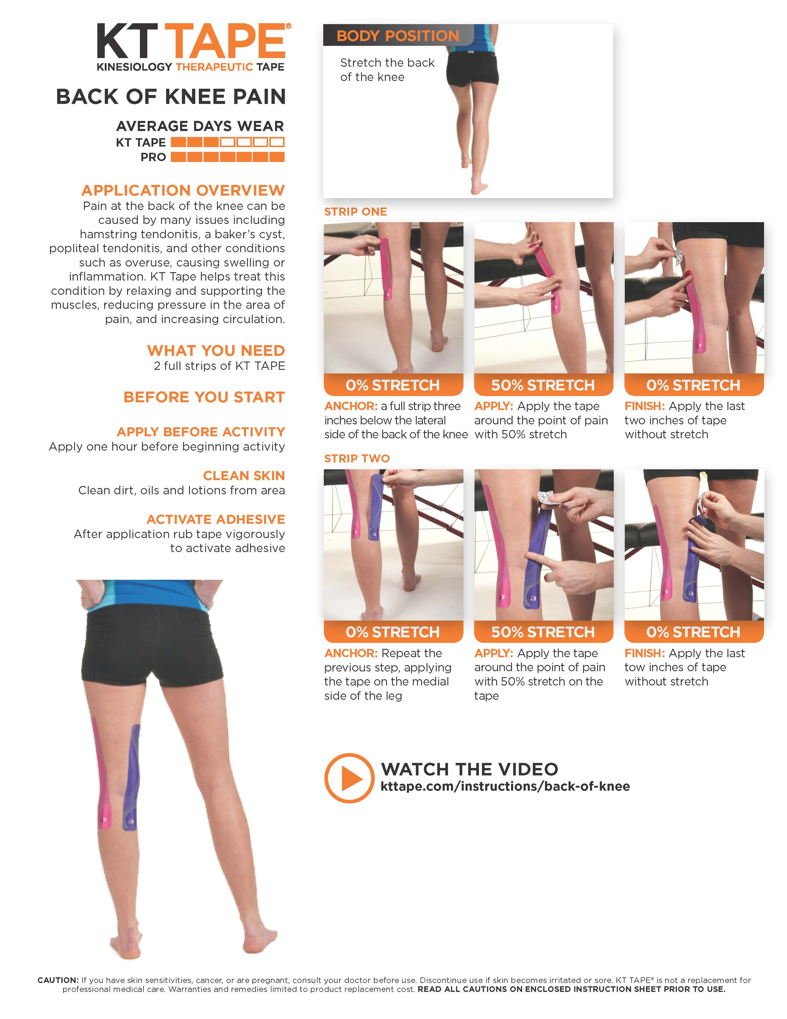 Back Of Knee Pain Kt Tape Theratape Education Center