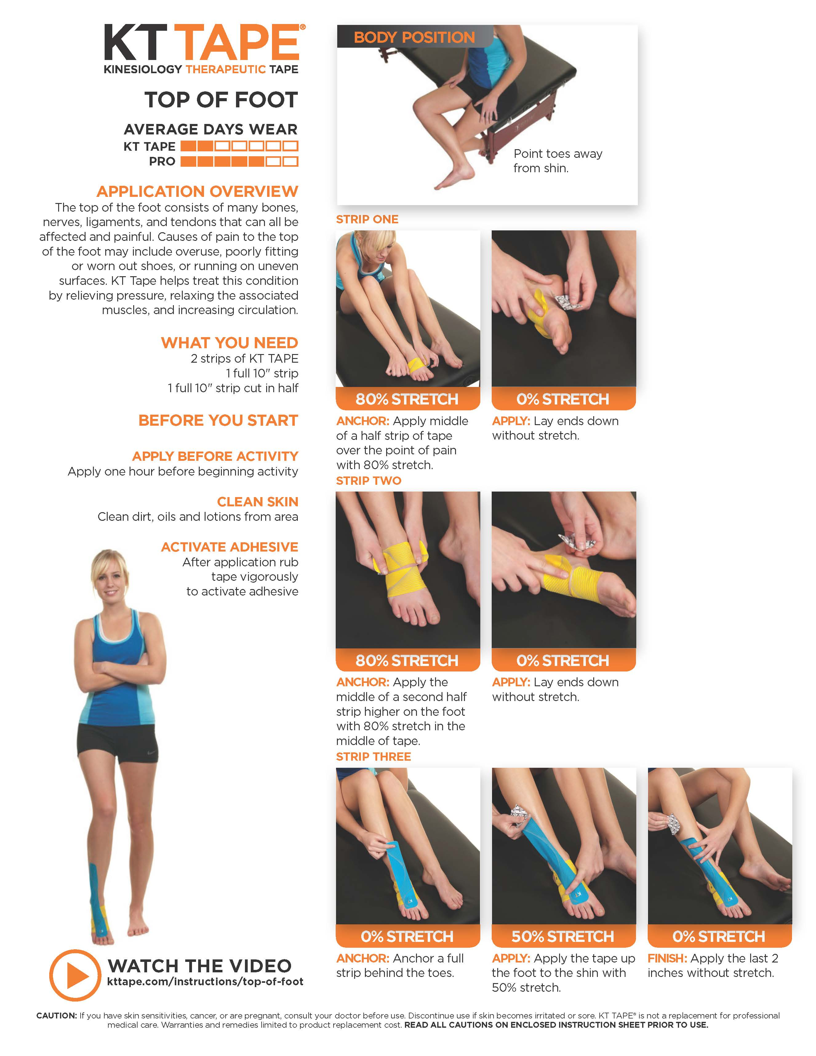 Top of Foot Pain – KT Tape