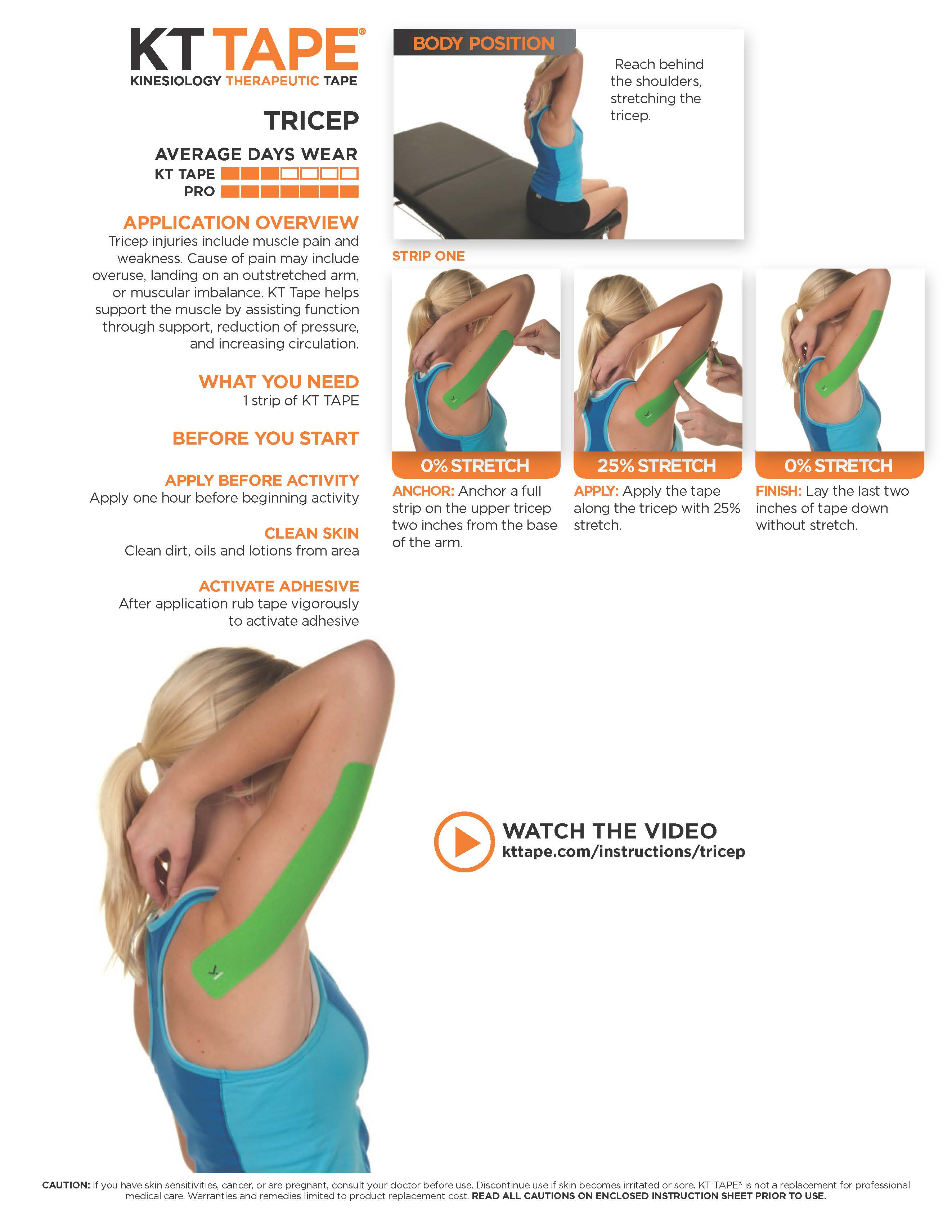 Triceps Kt Tape Theratape Education Center