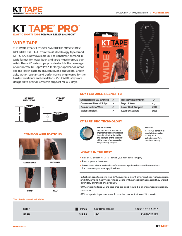 KT Tape Pro Wide Product Information
